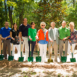 Ground breaking of new building