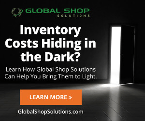 An example banner ad from Global Shop Solutions promoting its inventory software.