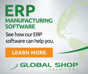 An example banner ad from Global Shop Solutions promoting its ERP software.