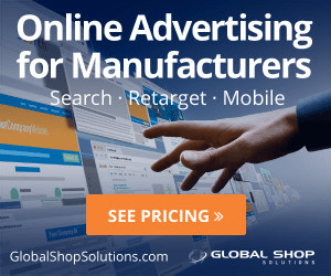 An example banner ad from Global Shop Solutions promoting its online advertising services.