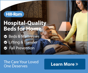 An example banner ad from a manufacturer promoting their hospital-quality beds for home.