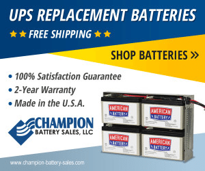 An example banner ad from a manufacturer promoting their UPS replacement batteries.