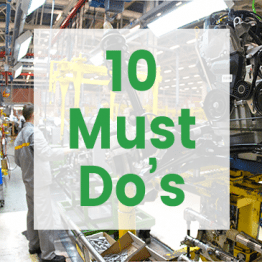 10 Must Do's for Small- to Medium-Sized Manufacturers